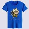 Cartoon Overwatch Junkrat T-shirts For Mens black Tees