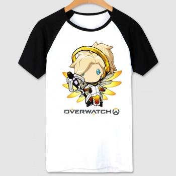 White Blizzard Overwatch Mercy T-Shirt Cartoon Design